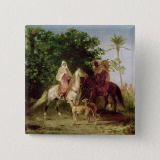 Departing for the Hunt 15 Cm Square Badge