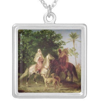 Departing for the Hunt Silver Plated Necklace