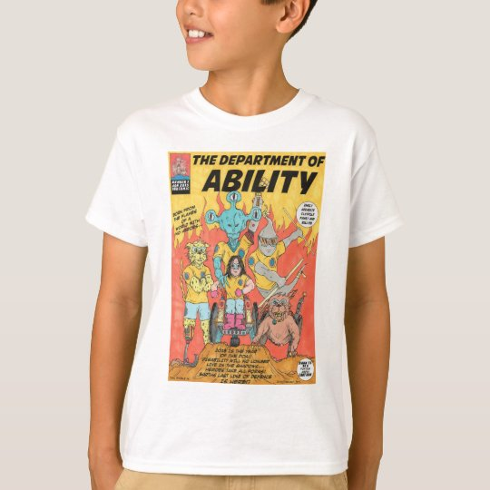 Department Of Ability kids super hero tshirt
