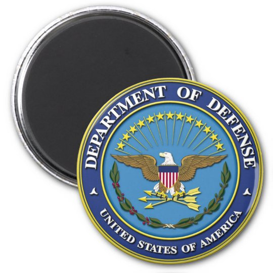 Department of Defence 6 Cm Round Magnet