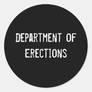 Department of Erections Round Sticker