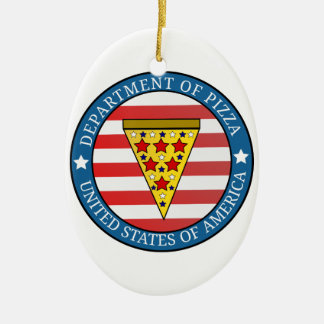 Department of Pizza Christmas Ornament