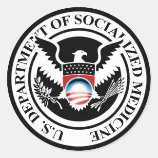 Department of Socialized Medicine Round Sticker