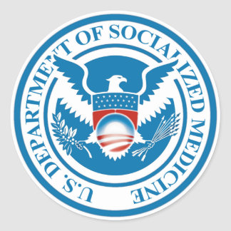 Department of Socialized Medicine Classic Round Sticker