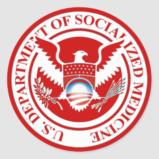 Department of Socialized Medicine Round Sticker