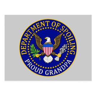Department of Spoiling - Proud Grandpa Postcard