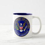 Department of Spoiling - Proud Grandpa Two-Tone Mug