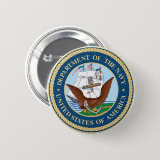 Department of the Navy Round Button
