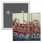 Departure of a Boat for the Crusades, 15 Cm Square Badge