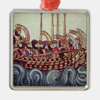 Departure of a Boat for the Crusades, Christmas Ornament
