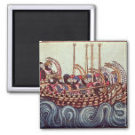 Departure of a Boat for the Crusades, Square Magnet