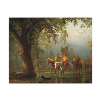 DEPARTURE OF A INDIAN WAR PARTY CANVAS PRINT