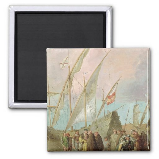 Departure of Christopher Columbus  from Palos Refrigerator Magnets