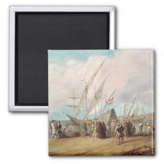 Departure of Christopher Columbus  from Palos Fridge Magnets