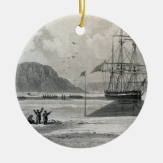 Departure of the boats from Hecla Cove, June 21, 1 Christmas Ornament