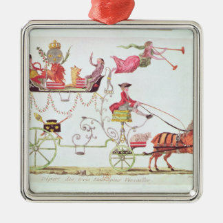 Departure of the Three Orders for Versailles Christmas Ornament