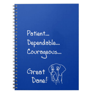 Dependable great dane notebook