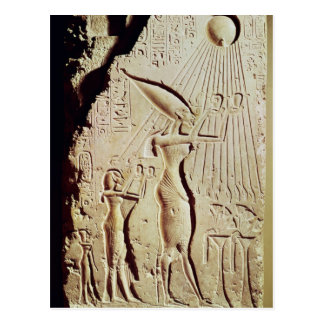 Depicting Amenophis IV, Nefertiti and Daughter Postcard