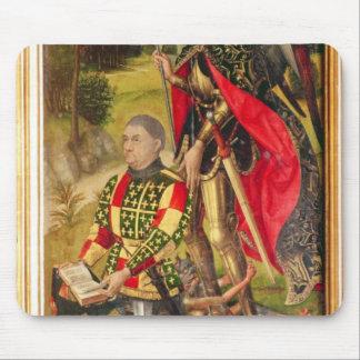 Depicting  donor of  altarpiece, Michel de Mouse Pad