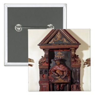 Depicting St. Crispin at his Workbench 15 Cm Square Badge