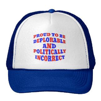 Deplorable AND Politically Incorrect Cap