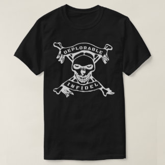 Deplorable Infidel Skull & Cross Bones Pro Trump T-Shirt