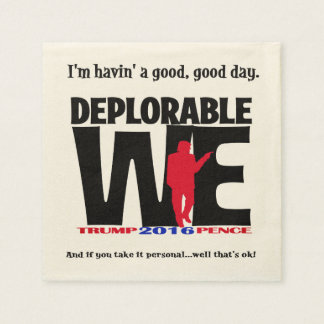 Deplorable Napkins for the party! Disposable Napkin