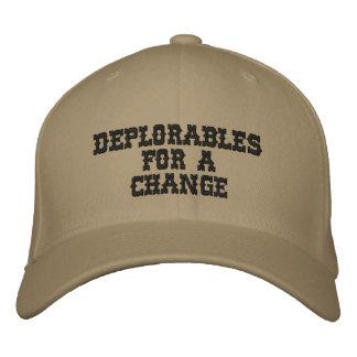 DEPLORABLES FOR A CHANGE - by eZaZZleMan.com Embroidered Cap