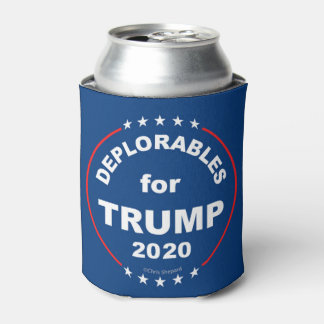 DEPLORABLES FOR TRUMP 2020! MAGA USA! Anti Hillary Can Cooler