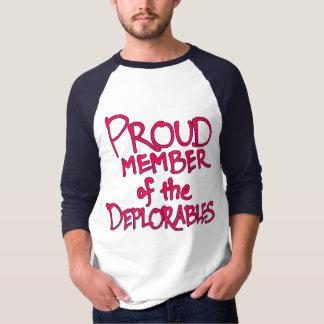 Deplorables Raglan T-Shirt (Red Lettering)
