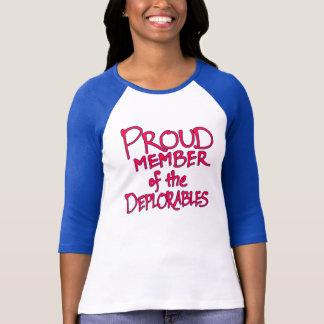 Deplorables Raglan Women's T-Shirt (Red Lettering)
