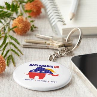 DeplorableUS Basic Round Button Key Ring