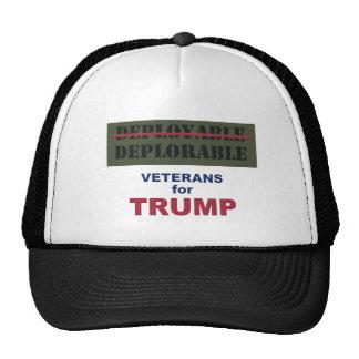 Deployable/Deplorable Vets for Trump Shirt Cap