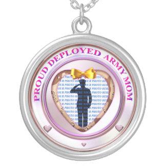 Deployed Army Mom Photo Necklace