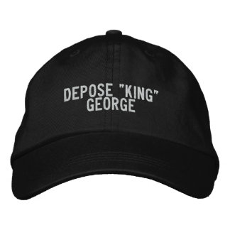 """depose """"king"""" george embroidered hats"""