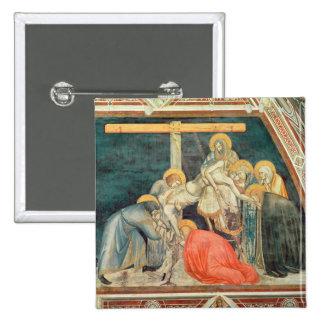 Deposition, c.1320 (fresco) 15 cm square badge