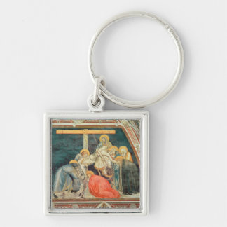 Deposition, c.1320 (fresco) Silver-Colored square key ring