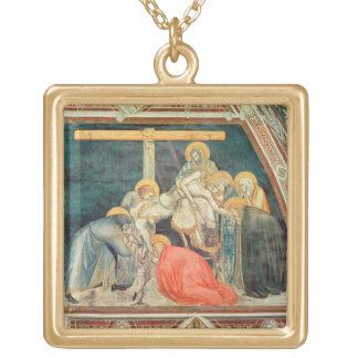 Deposition, c.1320 (fresco) square pendant necklace