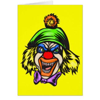 Depraved Evil Clown Greeting Card