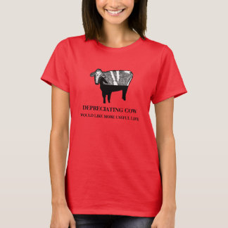 Depreciating Cow: Accounting Humor T-Shirt