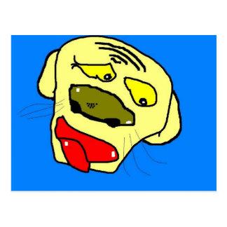 depressed dog doggy postcard