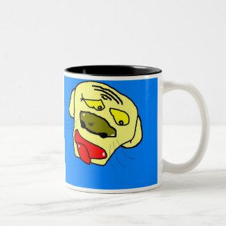 depressed dog doggy Two-Tone coffee mug