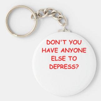 depressed key chain