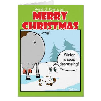 Depressing Winter Card