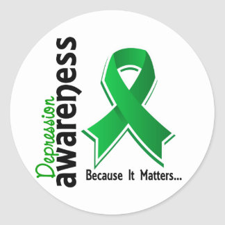 Depression Awareness 5 Classic Round Sticker