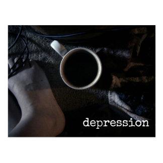 Depression Awareness Dark Sadness Emotion Postcard