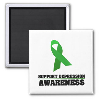 Depression Awareness Square Magnet