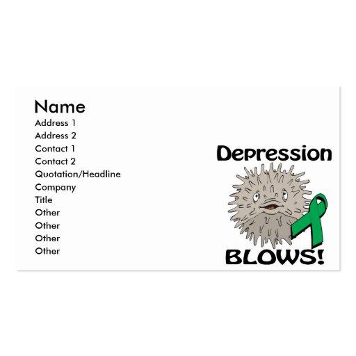 Depression Blows Awareness Design Business Card Templates