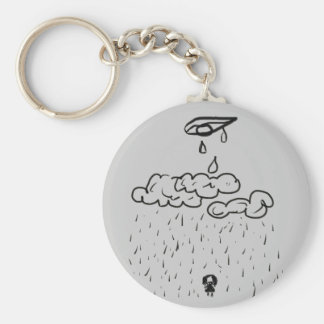 Depression bring bad luck basic round button key ring