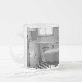 Depression-Era Farm Kitchen Frosted Glass Mug